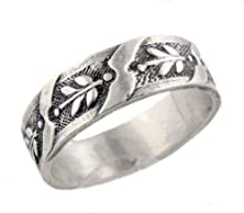 buy Victorian Style Unisex Sterling Silver 6.5Mm Patterned Wedding Band (Sz 10)