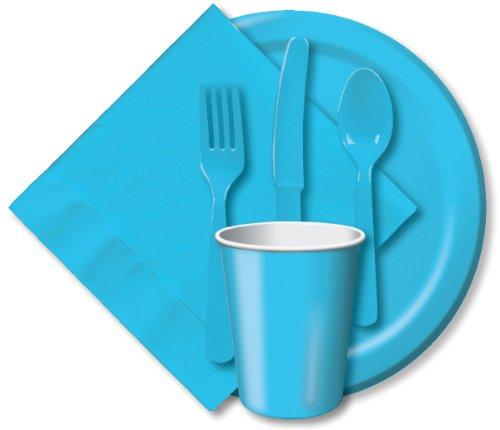 """Luncheon Plates 7"""" 24/Pkg-Pastel Blue"""