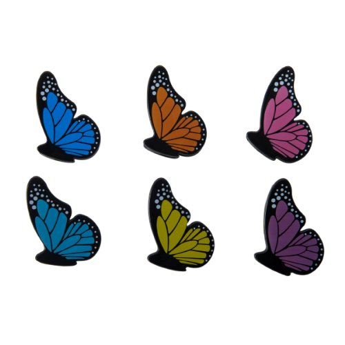 Kizmos Small Butterfly Bag Clips, Set of 6