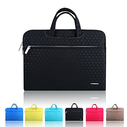 Smart Tech(TM) Denim Fabric 13-13.3 Inch Laptop / Notebook Computer / Macbook / Macbook Pro / Macbook Air Case Briefcase Bag Pouch Sleeve.(3 Year Warranty!) (black)