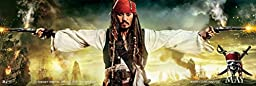 MOUSE POSTER STAR P1361 pirates of the caribbean on stranger tides printed on canvas 16x48 inch - waterproof canvas poster