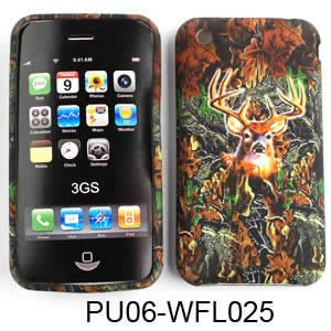 Apple iPhone 1G/2G/3G/3GS PU Skin, Camo/Camouflage Hunter Series w/ Deer Silicone/Gel/Soft/Cover/Case