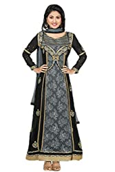 Heena khan black colored dress m aterial