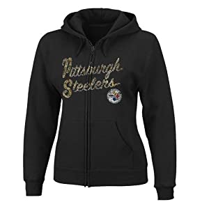 NFL Pittsburgh Steelers Women's Long Sleeve Full Zip Fleece Hoodie from VF Imagewear
