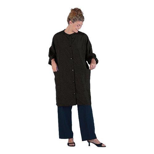 Hair Stylist Big Shirt Nylon Jacket w/Pockets Black XXL #1149 by Betty Dain by Betty Dain