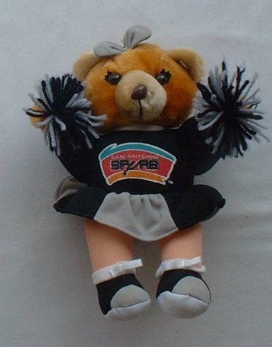 "10"" Spurs Cheerleader Bear Plush - 1"