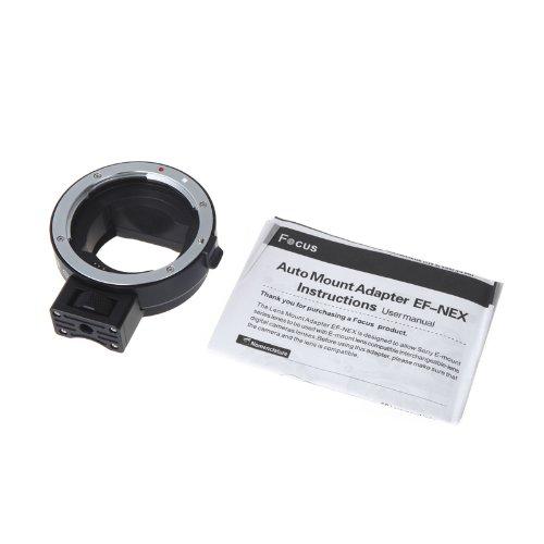 Kingzer Commlite Comtrig Mount Adapter Ef-Nex Af For Canon Ef/Ef-S Lens To Sony Nex