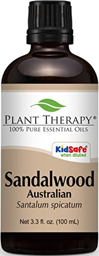 Sandalwood (Australian) Essential Oil. 100 ml (3.3 oz). 100% Pure, Undiluted, Therapeutic Grade.