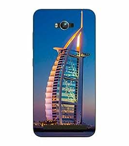 Make My Print Burj Khalifa Printed Sky Blue Hard Back Cover For Asus Zephone Max