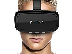Procus ONE VR Headset / Glasses - Inspired by Google Cardboard and Oculus Rift - Virtual Reality Gear - Best Selling for K4 Note Lenovo, iPhone, Android Phones. India