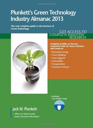 Plunkett'S Green Technology Industry Almanac 2013: Green Technology Industry Market Research, Statistics, Trends & Leading Companies front-408538