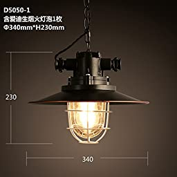 Small iron cages wrought-iron chandeliers vintage black umbrella chandeliers bar coffee shop pendant lamp