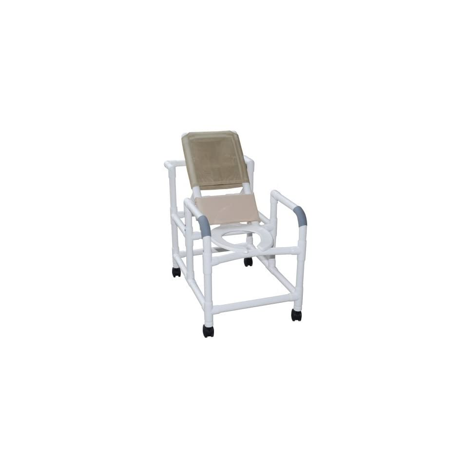 Reclining Shower Commode Chair W / Elongated Seat, 16