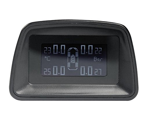 VICTONY TPMS Solar Energy Tire Pressure Monitor System with 4 Sensors Protect Your Safety