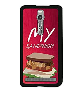 My Sandwich 2D Hard Polycarbonate Designer Back Case Cover for Asus Zenfone 2 ZE551ML