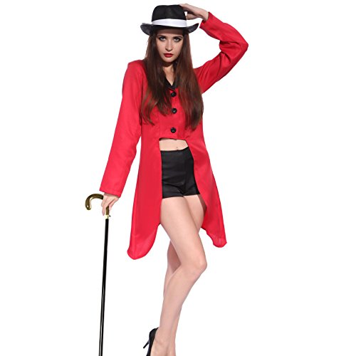 Adult Men Women Circus Ringmaster Jacket Costume Fancy Dress Tailcoat Outfit