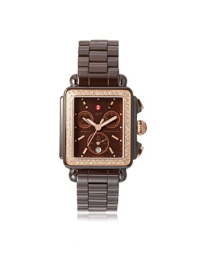 Michele Women's MWW06F000016 Deco Brown Ceramic Watch