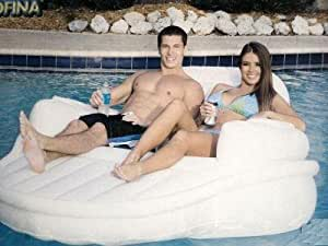 Deluxe Two Person Pool Settee with Built-in Coolers