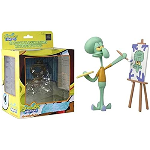 Spongebob Squarepants Mini Figure World Wave 04 - Squidward Painting Spongebob Squarepants Figures [병행수입품]-