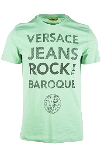 Versace Jeans t-shirt maglia maniche corte girocollo uomo mars slim verde EU M (UK 38) B3GOA748 PRINT9