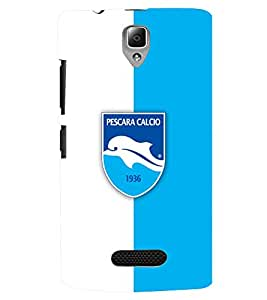 TOUCHNER (TN) White Blue Logo Back Case Cover for Lenovo A2010