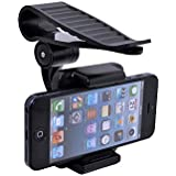 F.Dorla Universal Car Sun Visor Sunshade Clip Holder Mount Stand for Samsung Galaxy S3 S4 Note 2 3 4 iphone 4S 4 3GS 5 5C 5S 6 Touch HTC Sony Blackberry Smarphones (Sunshade Clip Holder Mount)