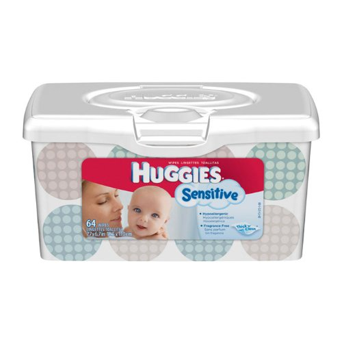 Huggies Natural Care Improved Wipes, Fragrance Free [Tub Of 64]