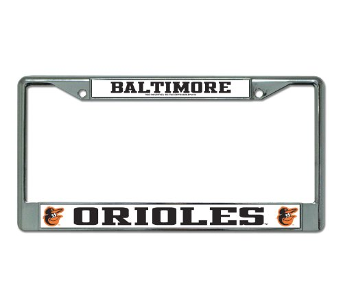 MLB Baltimore Orioles Chrome License Plate Frame at Amazon.com