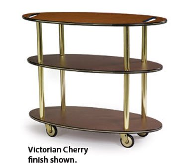 Lakeside Geneva Rounded Oval Service Cart With Handle Hole, 23 X 44 X 35 1/4 Inch Overall Size -- 1 Each.