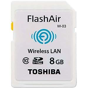 東芝 TOSHIBA 無線LAN搭載 FlashAir III Wi-Fi SDHCカード Class10 日本製 [並行輸入品] (8GB)