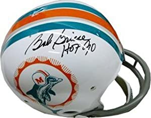 Bob Griese Autographed Hand Signed Miami Dolphins RK Riddell Authentic Throwback... by Hall of Fame Memorabilia