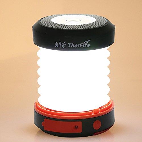 ThorFire LED ソーラーパネル 懐中電灯 充電式 キャンピング ランタン 折りたたみ式のランプ 携帯便利 軽量 トーチライト フック付き キャンピング/緊急事態など使う CL04