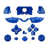 WPS Matte ABXY Dpad Triggers Full Buttons Set Mod Kits for Newest Xbox One Controller (3.5mm Port) with Screwdriver (Torx T6 T8) Set (Blue) (Color: blue)