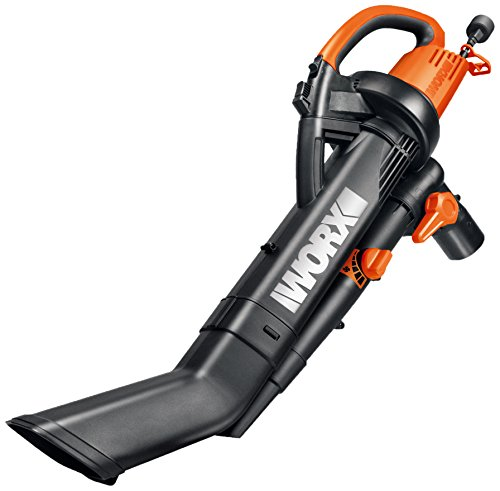WORX TRIVAC 12 Amp Yard-in-One Blower/Mulcher/Vacuum with 210 MPH / 350 CFM Output, Includes 10 Gallon Bag - WG505 (Shredder Vacuum compare prices)