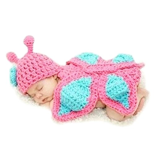 BlueTop(TM) Infant Crochet Butterfly Turquoise Hat Photography Costume for Baby