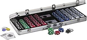 Fat Cat Hold'em Dealer Poker Chip Set (500 Chips)