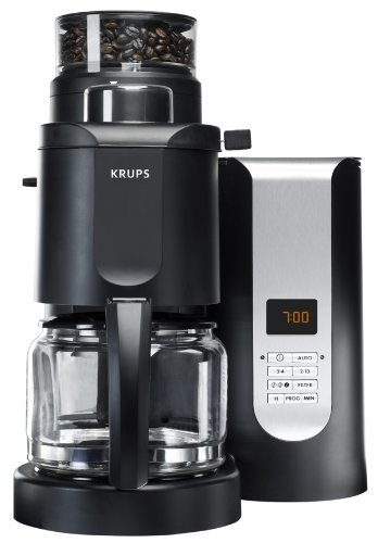Best Price! KRUPS KM7005 Grind and Brew Coffee Maker with Stainless Steel Conical Burr Grinder, 10-c...