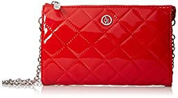 Armani Jeans V4 Quilted Patent Crossbody Bag, Red, One Size