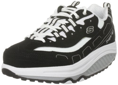 Skechers Women`s Shape Ups Strength Wide Fitness Work Out Sneaker,Black/White,8.5 W US