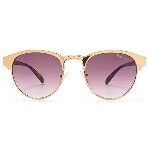 Miss KG Metal Round Preppy Sunglasses in Rose Gold MKG011