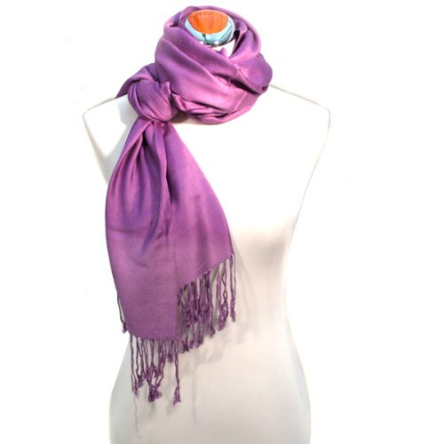 Juicy Sateen Purple Pashmina Wrap