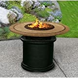 California-Outdoor-Concepts-2020-BK-FP-CAP-48-Del-Mar-Dining-Height-Fire-Pit-Black-Gas-Logs-Capistrano-Mosaic-48-in-Tile-Top