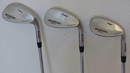 Mens Tour Edge Golf Wedge Set of 3 Clubs 52 Gap Wedge, 56 Sand Wedge, and 60 Lob Wedge