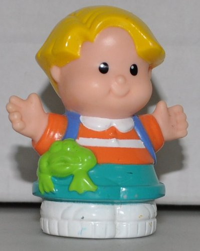 Little People Eddie (1997) - Replacement Figure - Classic Fisher Price Collectible Figures - Loose Out Of Package & Print (OOP) - Zoo Circus Ark Pet Castle - 1