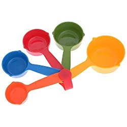 Tanyash Measuring Cups set , 5 pieces, Multicolour measuring cups