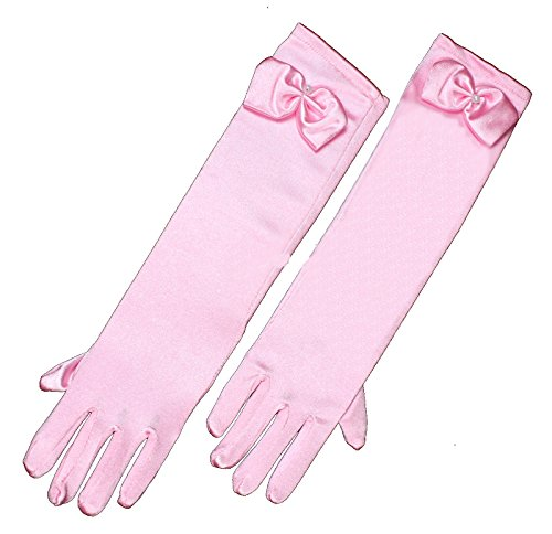 Princess Long Pink Gloves Dress Dance Costume Cosplay Party