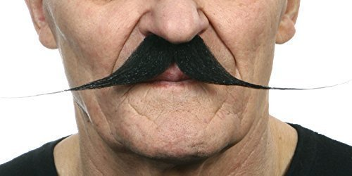 Tightrope black moustaches 2pcs.