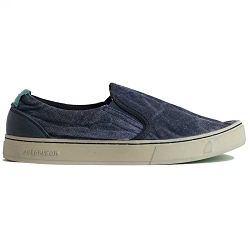 SATORISAN SOUMEI TIE DYE MIDNIGHT SLIP-ON IN TELA LAVATA JEANS