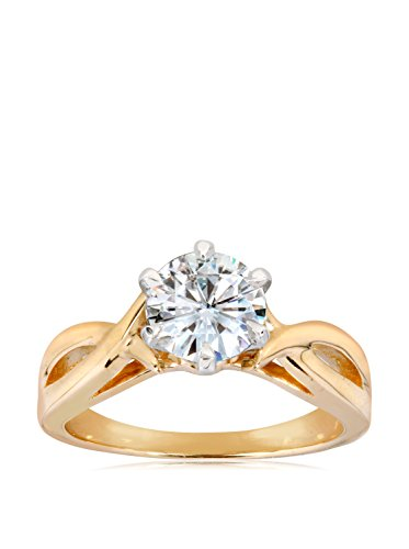 Kobelli 14K Gold Solitaire Moissanite Engagement Ring