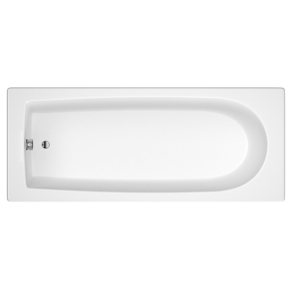Trueshopping Glansdale Bathroom 1600mm x 700mm Acrylic Single Ended Modern Bath Tub With Leg Set       Customer reviews
